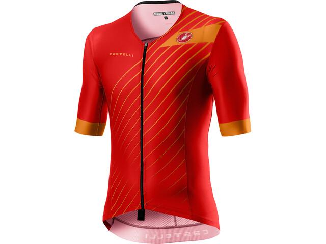 Castelli Free Speed 2 Race Koszulka rowerowa z krótkim rękawem Mężczyźni, red/fiery red